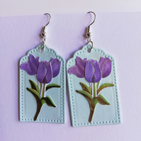 earrings showing tulips