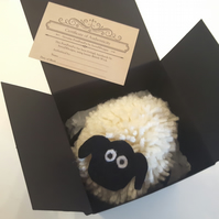 Woolly Sheep Pompom Pet Handmade with British Wool Pompompets