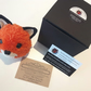Fox Pom Pom Pet Handmade with British Wool Pompompets Woodland Creature Gift