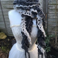 scarf wrap crochet lace style twist design fashion accessories