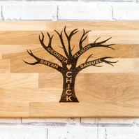 Oak family tree board