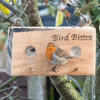 Personalised Oak Bird  Feeder