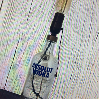 1908 Effect Edison Light Upcycled Absolut Vodka Bottle