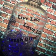 Demijohn 100 LED 8 Multifunction Blue Light