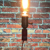 Red Square Vodka Bottle Edison Light Bright White LED