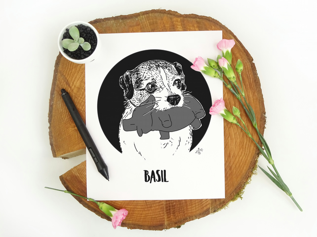Custom Pet Illustration, Personalised Pet Portrait, Digital File