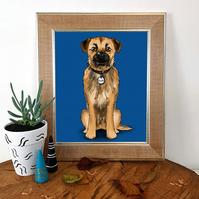 Custom Pet Illustration, Personalised Pet Portrait, Digital File only