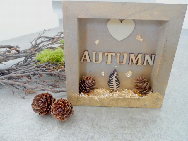 Fall Autum Shadow Box