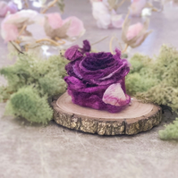 Beautiful Fuschia Rose Inspired Brooch