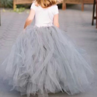 Flower girl tutu, grey tulle tutu, beautiful bespoke skirt, Christmas party tutu