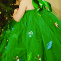 Christmas tree tutu dress, Christmas party tutu