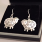 Sheep Drop Earrings