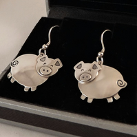 Pig Drop Earrings