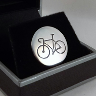 Bicycle Disc Tie Pin