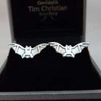 Bat Stud Earrings, Silver Wildlife Jewellery, Gift for Nature Lovers