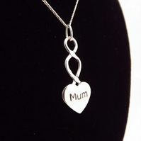 Small Mum Heart Pendant