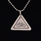 Cyclist Road Sign Pendant