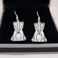 Badger Drop Earrings