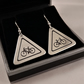 Cycling Road Sign Drop Earrings