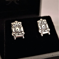 Steam Engine Stud Earrings