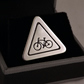 Cyclist Road Sign Tie Pin