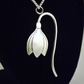 Snowdrop Pendant (with stem), Silver Flower Necklace, Handmade Nature Jewellery
