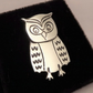 Owl Tie Pin, Silver Bird Jewellery, Handmade Animal Gift for Him