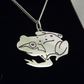 Frog Pendant, Silver Nature Necklace, Wildlife Gift, Frog Jewellery