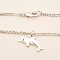 Dolphin Bracelet, Silver Animal Jewellery, Handmade Wildlife Gift for Her