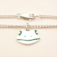 Frog Anklet, Silver Wildlife Jewellery, Gift for Her, Nature Anklet