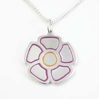 Flower Pendant (Large), Handmade from Sterling Silver