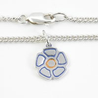 Flower Anklet, Handmade from Sterling Silver