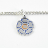 Flower Bracelet, Handmade from Sterling Silver