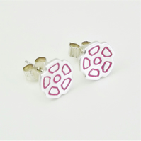 Flower stud earrings, Handmade from Sterling Silver