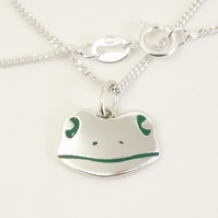 Frog Pendant (Small), Silver Nature Necklace, Wildlife Gift, Frog Jewellery