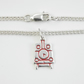 Steam Engine Anklet, Silver Railway Jewellery, Handmade Train Gift