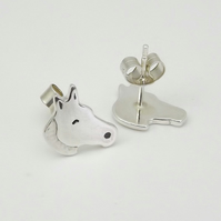 Horse Stud Earrings, Handmade from sterling silver