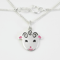 Small Sheep Pendant Handmade from Sterling Silver