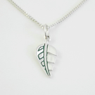 Small Leaf Pendant, Silver Nature Jewellery, Wildlife Gift