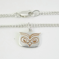 Owl Anklet, Silver Bird Jewellery, Handmade Wildlife Gift for Her