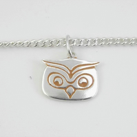 Owl Bracelet, Silver Wildlife Jewellery, Gift for Nature Lover, Bird Bracelet