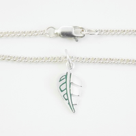 Leaf Anklet, Silver Animal Jewellery, Handmade Wildlife Gift for Her
