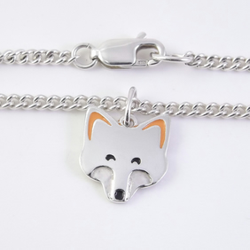 Fox Anklet, Silver Nature Jewellery, Handmade Animal Gift, Wildlife Anklet