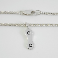 Bicycle Chain Bracelet, Silver Cycling Jewellery, Handmade Bike Gift for Her