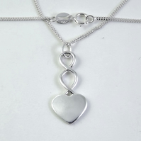 Heart Pendant (Small), Silver Celtic Jewellery, Handmade Gift for Her