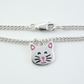 Cat anklet, handmade from sterling silver