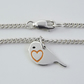 Robin Anklet, Silver Bird Jewellery, Handmade Wildlife Gift for Her