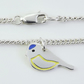 Blue Tit Anklet, Silver Bird Jewellery, Handmade Wildlife Gift for Her