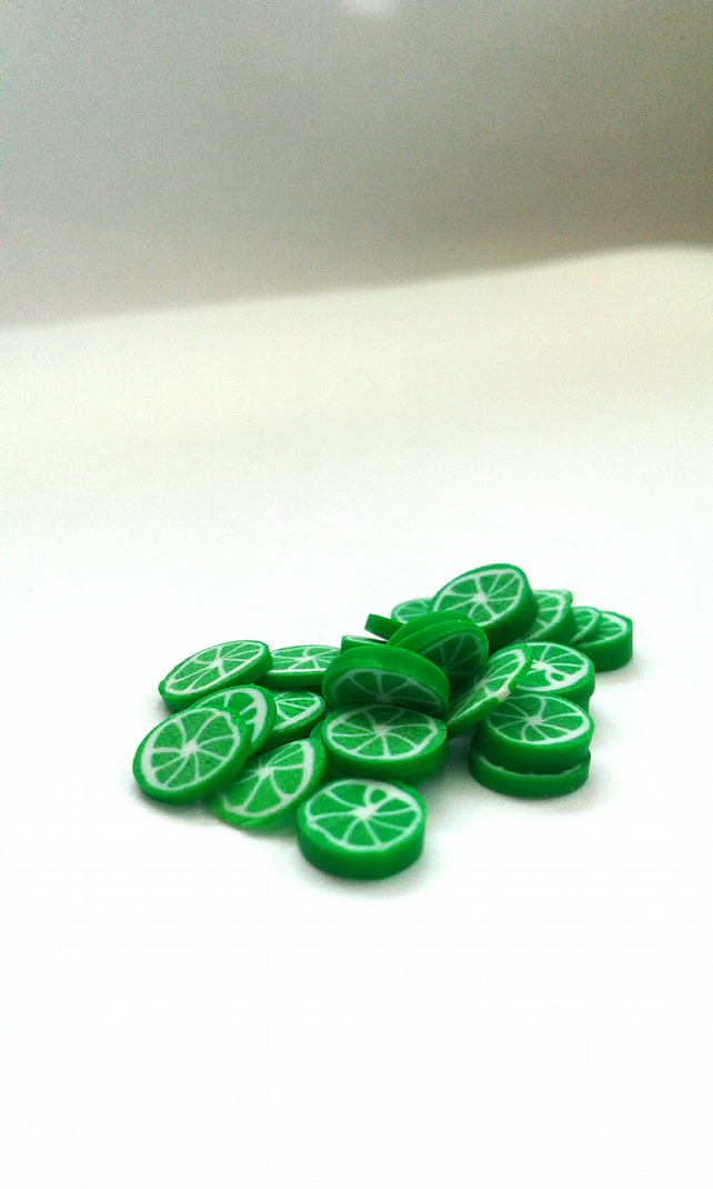 lime polymer clay cane
