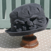 Grey cloche hat